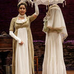 Kimberly Chatterjee and Amelia Pedlow in Primary Stages' 2017 Production of PRIDE AND PREJUDICE - photo by James Leynse